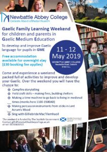 Gaelic Family Learning Weekend