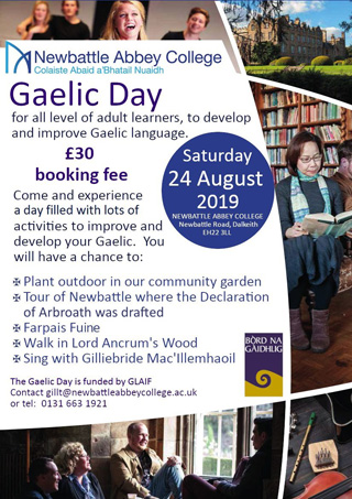 Gaelic Day on Sat 24th August 2019
